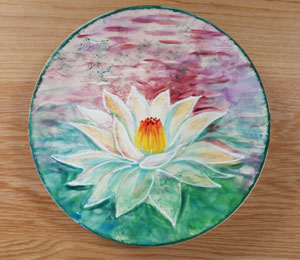Tucson Mall Lotus Flower Plate