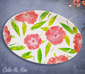 Tucson Mall Floral Paper Stamping