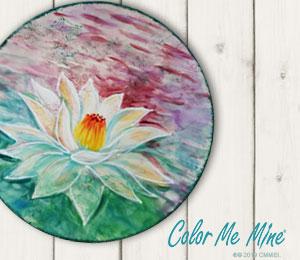 Tucson Mall Lotus Flower Plate