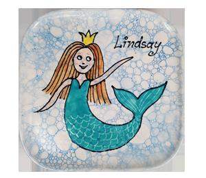 Tucson Mall Mermaid Plate