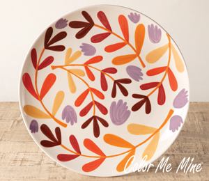 Tucson Mall Fall Floral Charger