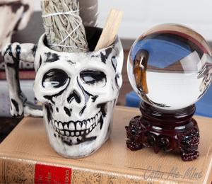 Tucson Mall Antiqued Skull Mug