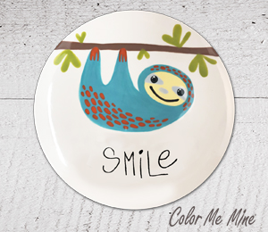 Tucson Mall Sloth Smile Plate