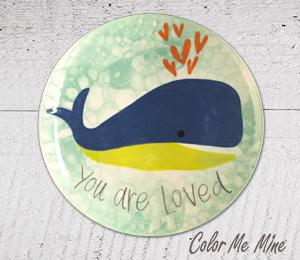 Tucson Mall Whale Love Plate