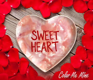 Tucson Mall Candy Heart Plate