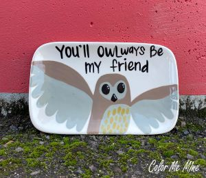 Tucson Mall Owl Plate