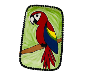 Tucson Mall Scarlet Macaw Plate
